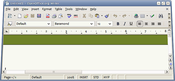 OpenOffice.org Calc running on Microsoft Windows