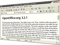 Screenshot of OpenOffice.org Writer